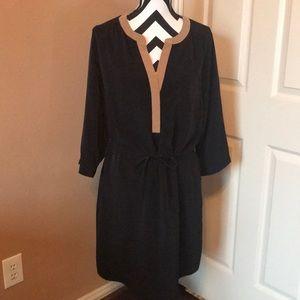 Black and tan dress